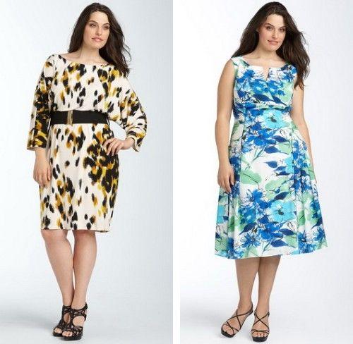 Модели летних платья для полных женщин