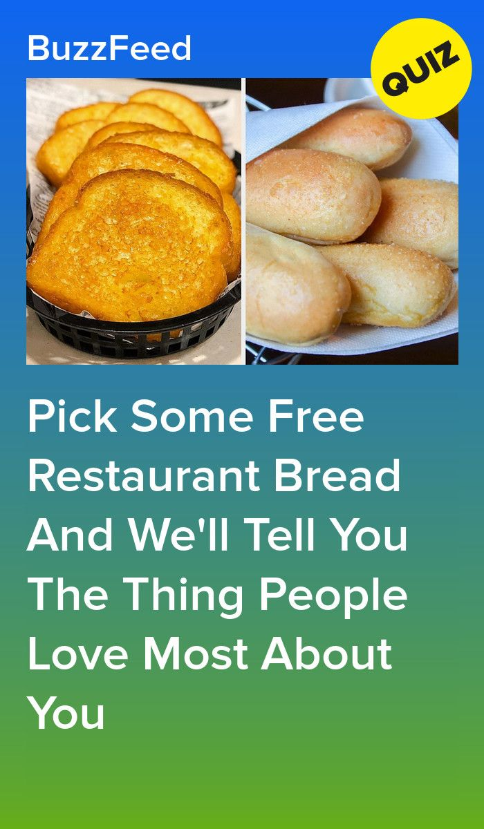 Pick Some Free Restaurant Bread And We'll Tell You The