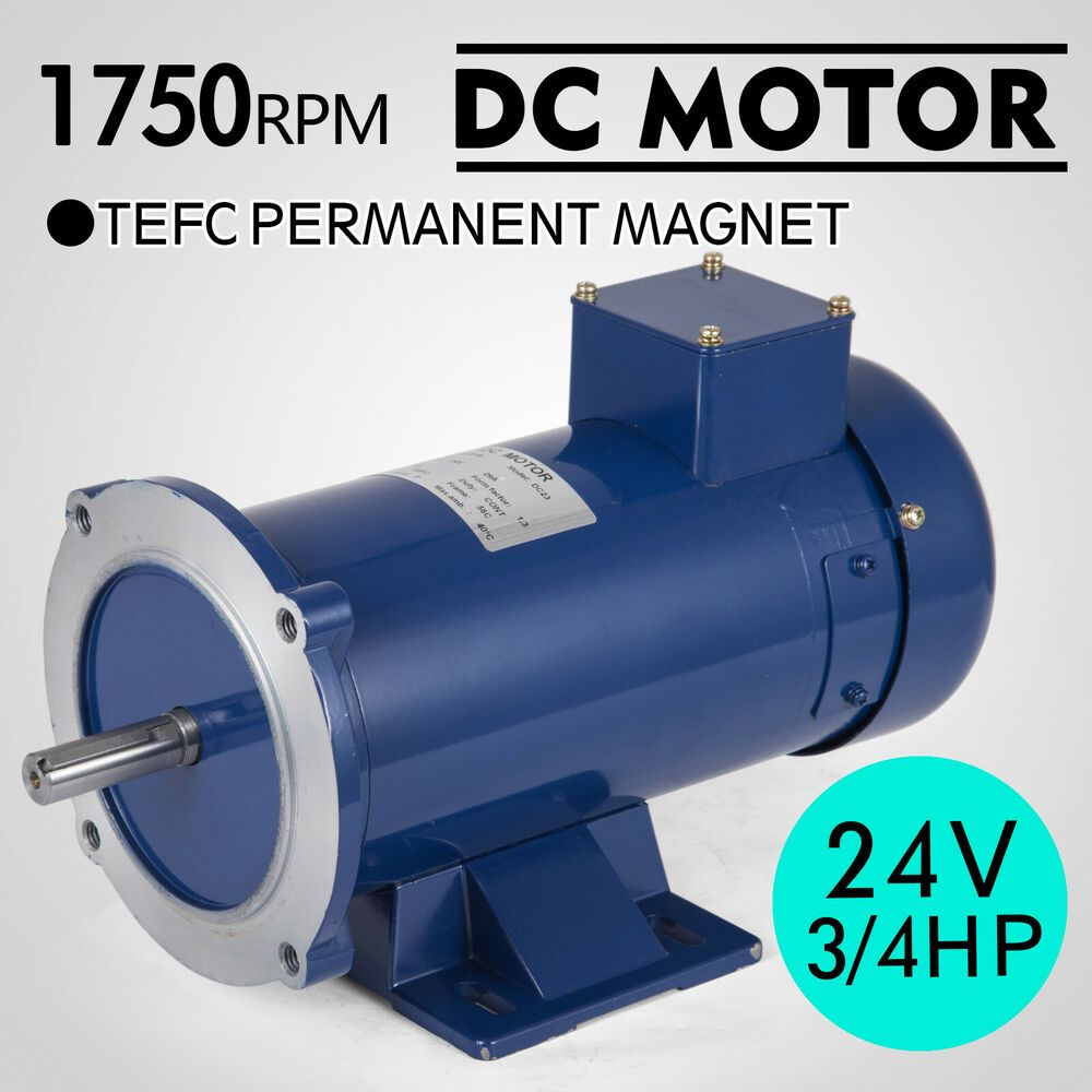3//4HP 24V DC MOTOR 56C PERMANENT MAGNET TEFC 1750RPM