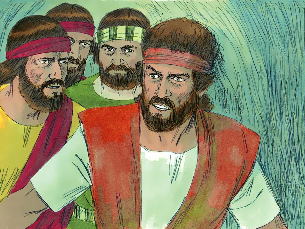 David And His Men Were Hiding Far Back In The Cave His