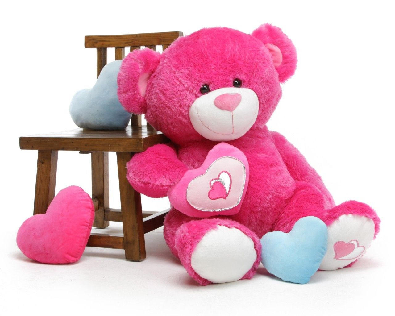 Chacha Big Love Extra Large Hot Pink Teddy Bear 42 In 109 99 Http
