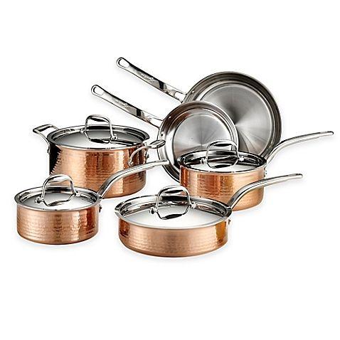 Lagostina Martellata Tri Ply Copper Cookware Collection Copper Cookware Set Lagostina Cookware Set