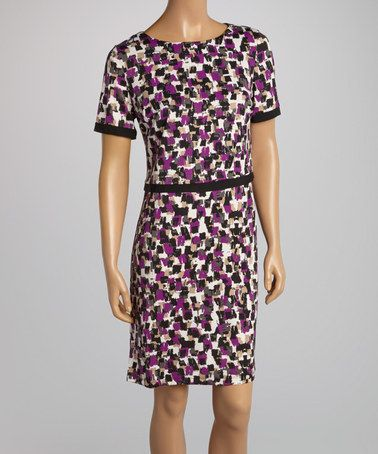 This Plum Swatches Layered Dress by AA Studio is perfect! #zulilyfinds