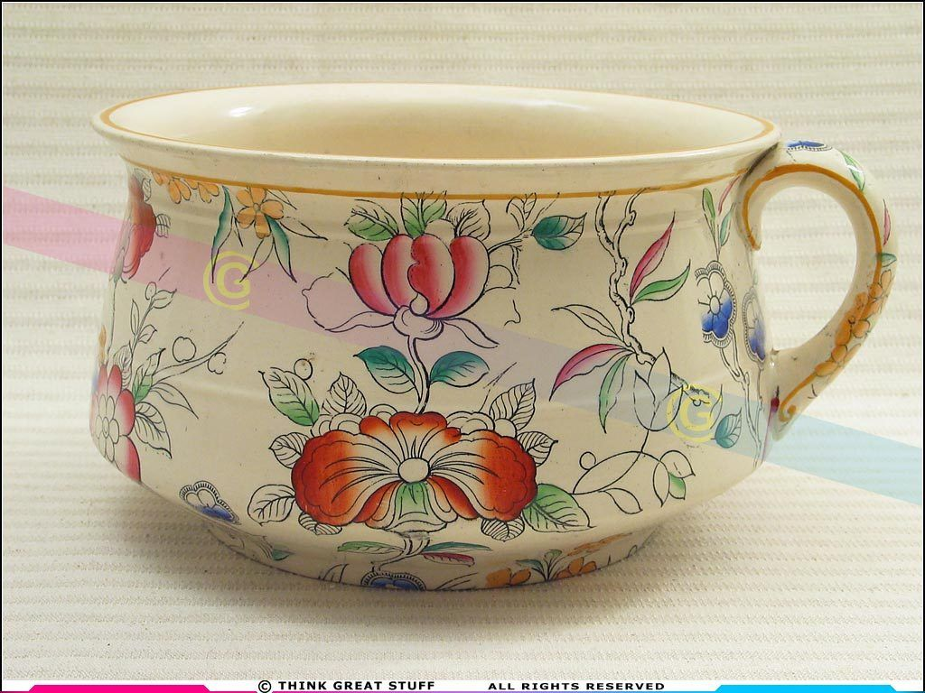 Bourdaloue Pot De Chambre C 1871 Brownfield Son Decorated Chamber Pot 21001204 Antique