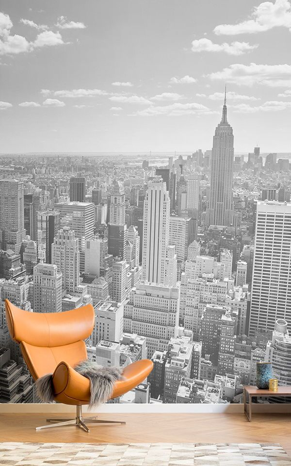 Black & White New York Panorama Wall Mural in 2020 (With