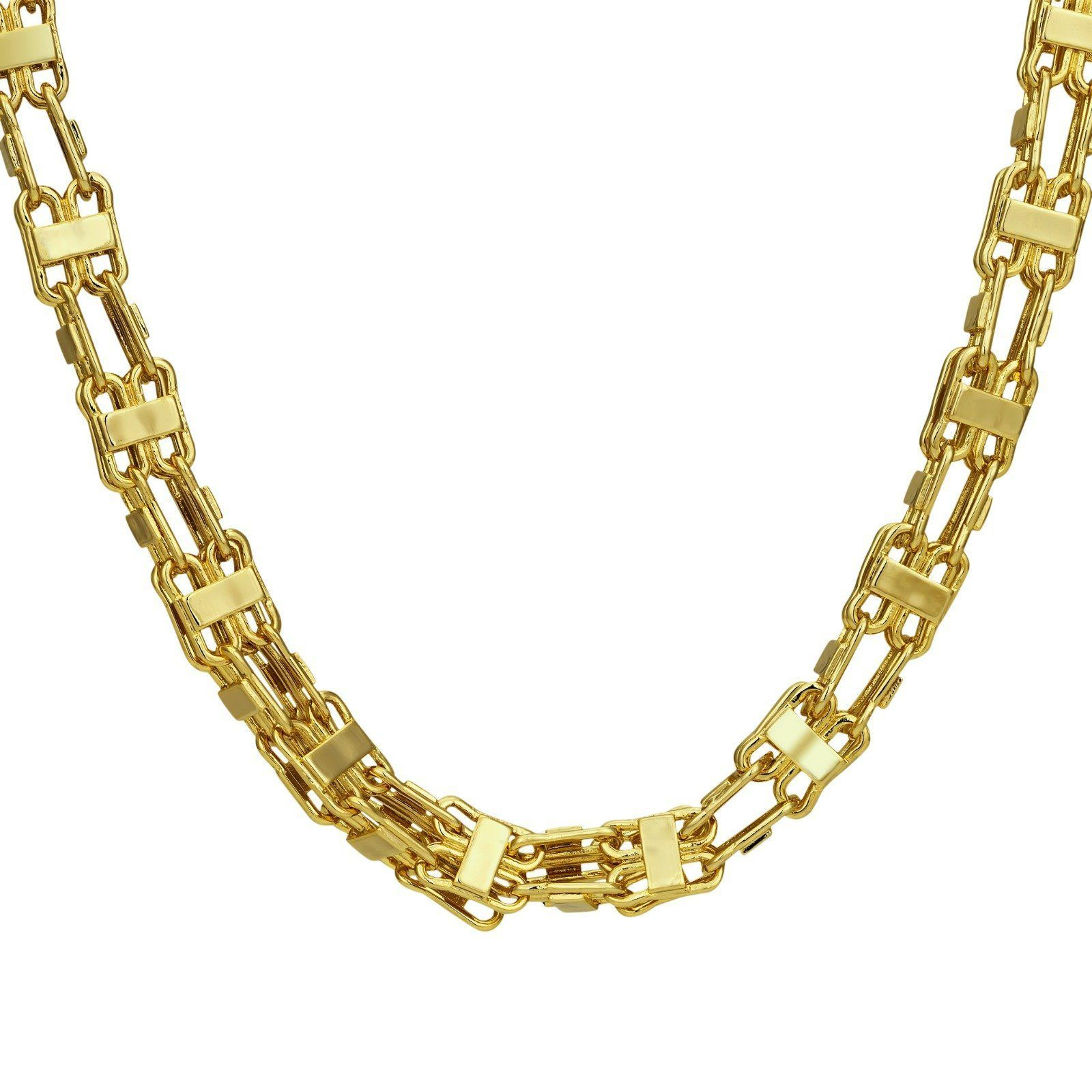 Handmade XL 10MM 18K Gold Filled or Silver Plated Cage Chain #watches  #bracelets #costume #menjewelry #Jewelry… | Gold necklace set, Fashion  jewellery online, Gold