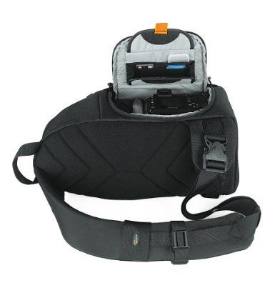 The Lowepro Slingshot 100aw Is A Sling Design Bag Made To Go From Carry Mode To Ready Mode In Just Seconds It Is Carr Backpacks Black Backpack Camera Backpack