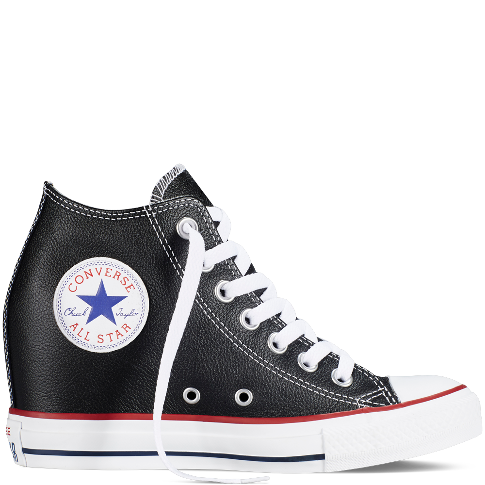 564f0b6fbf5ec8 Chuck Taylor All Star Lux Wedge Leather Black black