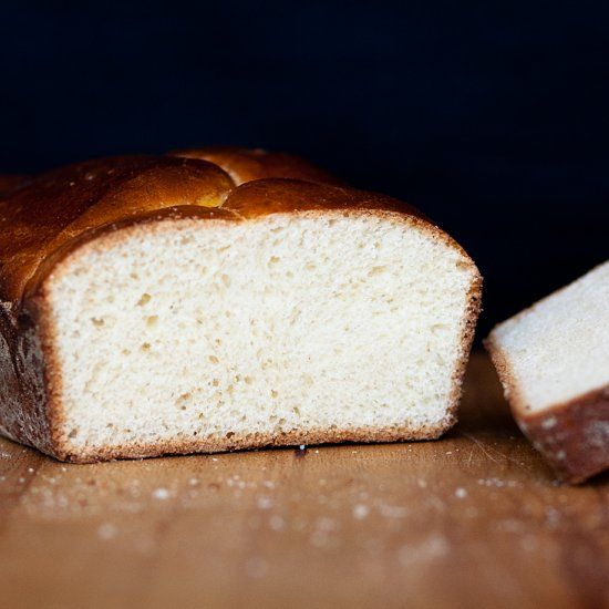 Light, airy and buttery brioche bread with a hint of ...