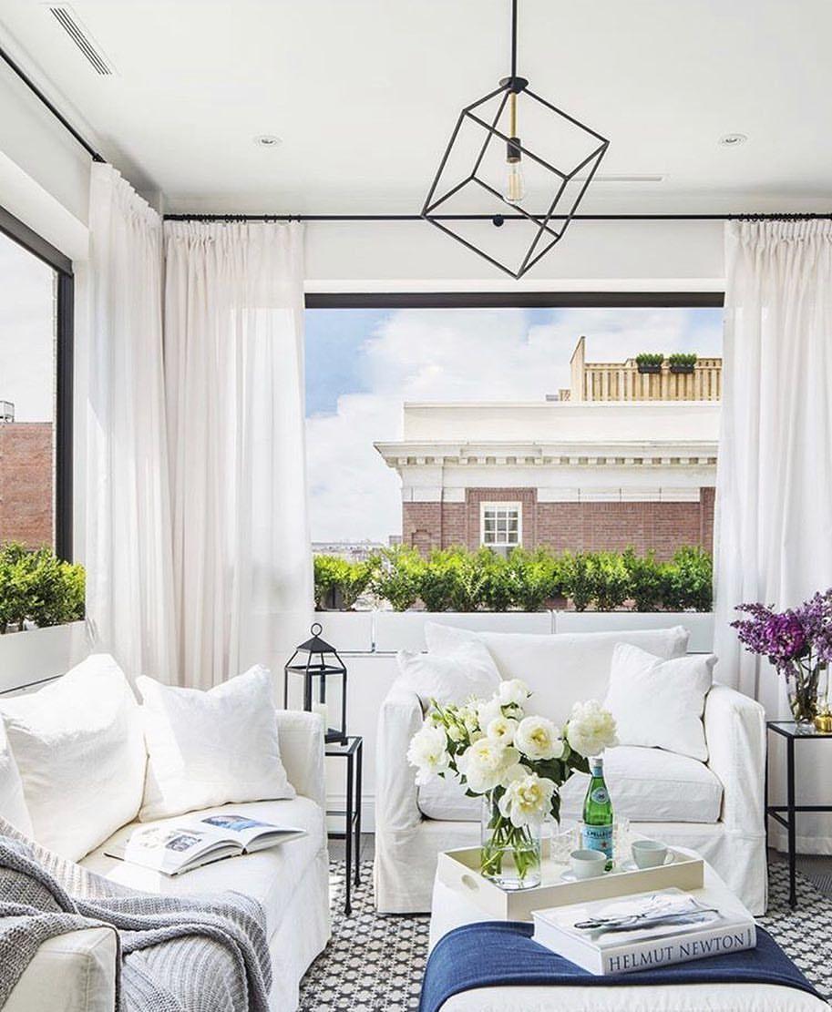"elle decor on instagram ""a bright light living room ️"