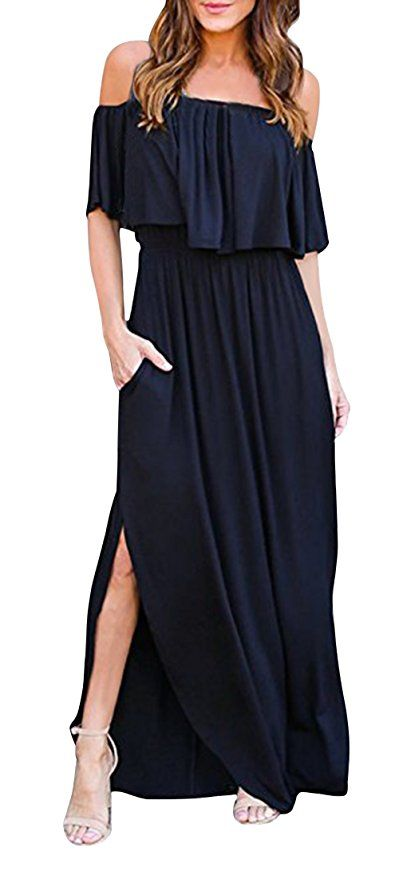 Image result for Yidarton Women Summer Strapless Boho Maxi Long Dress | The Best Bump-Friendly Amazon Finds featured Alabama blogger My Life Well Loved #maternity #pregnancy