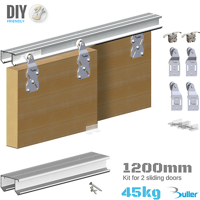 Horus Double Rail Track System Wardrobe Sliding Door Gear 45kg 1200mm 2 Door 5905518210109 Ebay In 2020 Sliding Doors Diy Sliding Door Sliding Wardrobe Doors