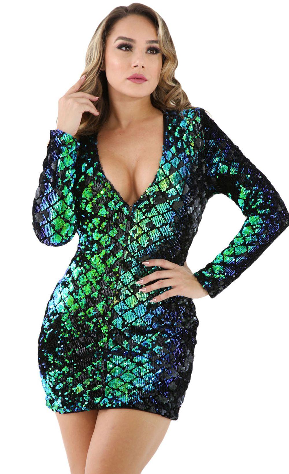 d77ffe632f8  44.99 Sparkle Sequin Mini Club Dress