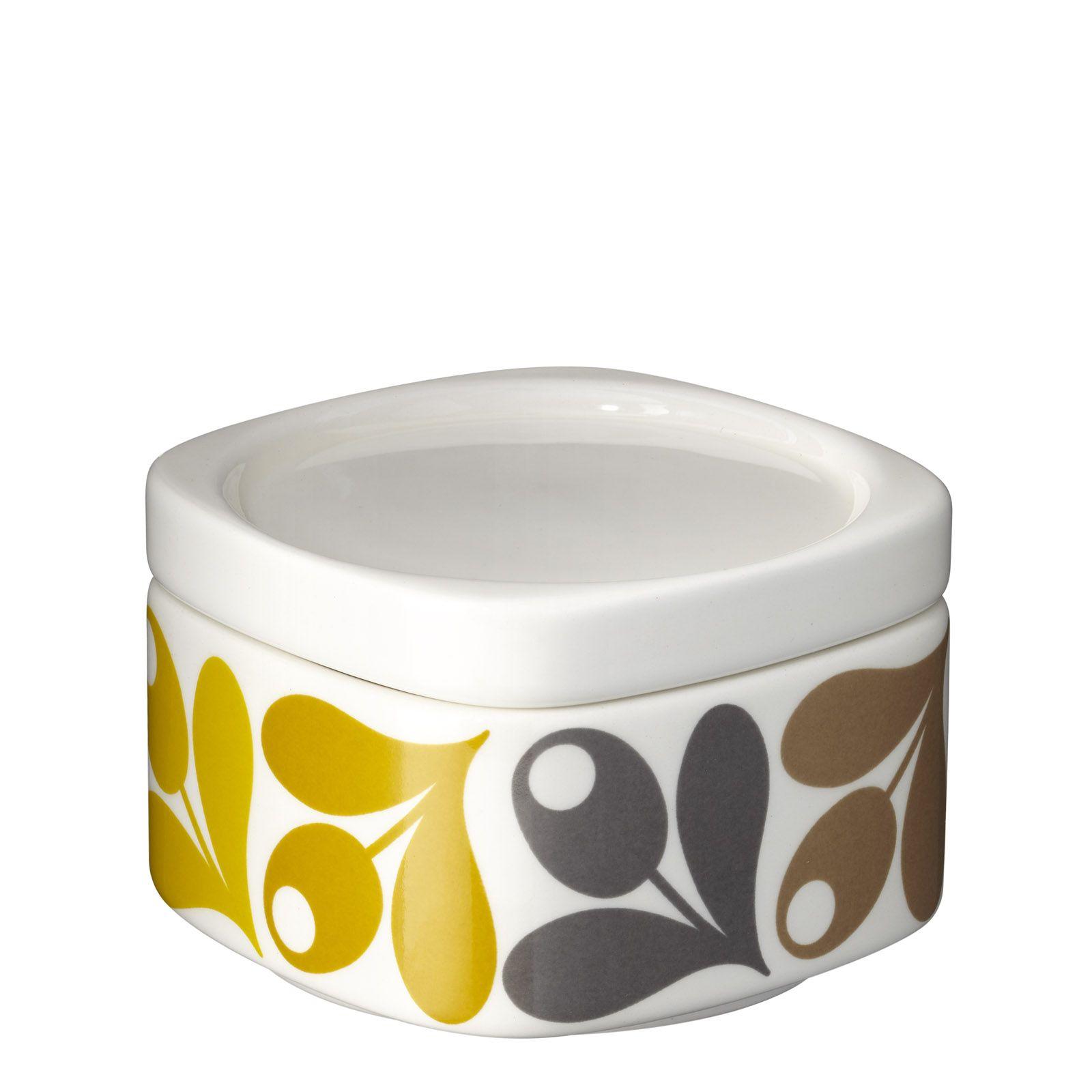 Acorn bathroom furniture - Orla Kiely Acorn Bathroom Canister