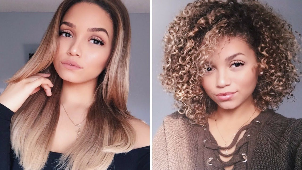 Updated Blow Dry Routine How To Blowdry Curly Hair Straight Ashley B Curly Hair Styles Curly To Straight Hair Straight Hairstyles