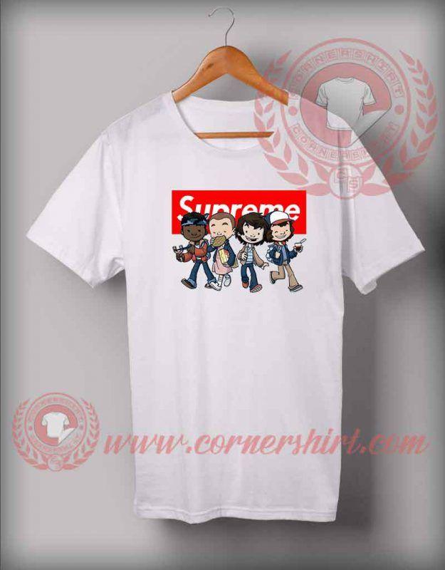 Custom Design Stranger Things Kids Supreme T Shirts
