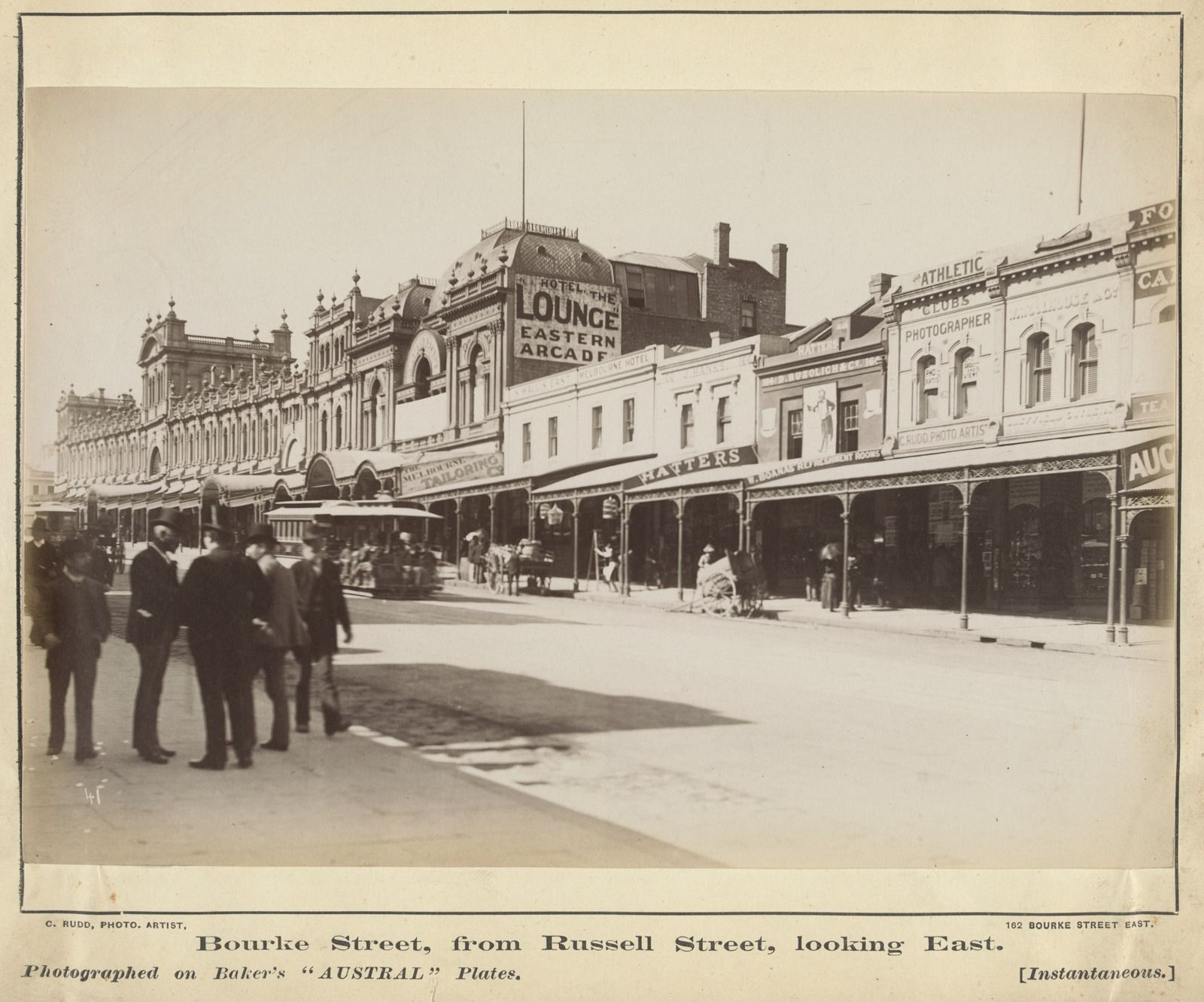 Bourke St Melbourne Looking East From Russell 1886 Far L Is
