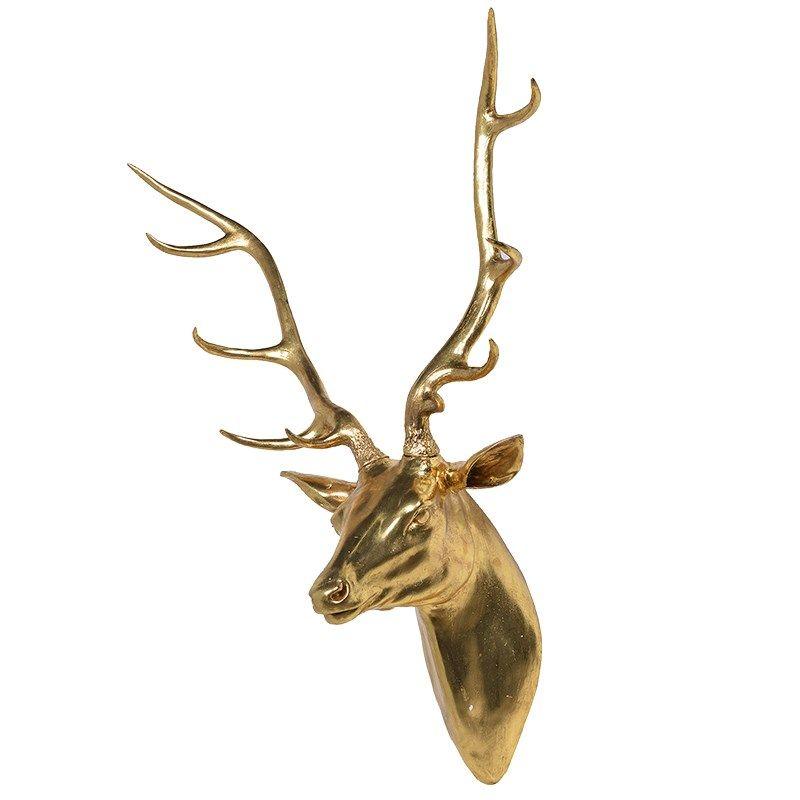 Gold Deer Wall Mount