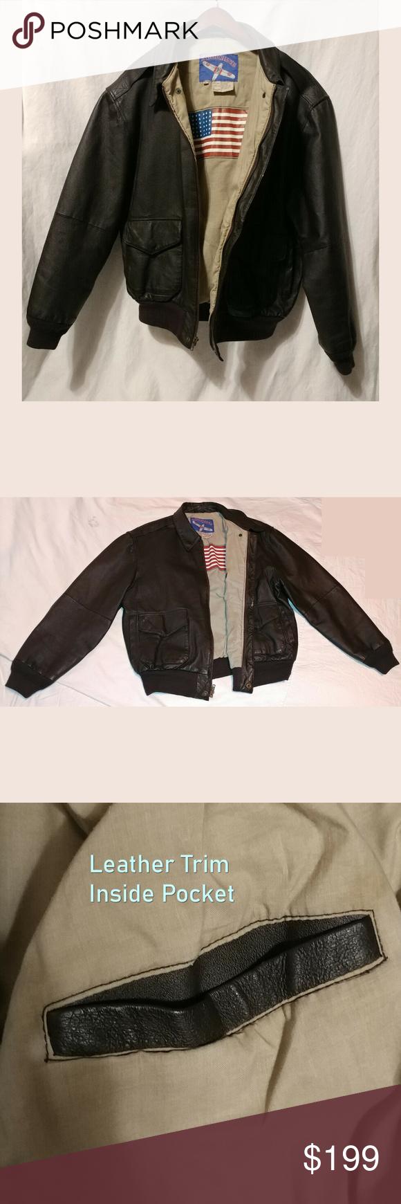 Airborne Leather Jacket Mens L Flight Biker Leather Jacket Men Leather Jacket Mens Fashion Rugged [ 1740 x 580 Pixel ]