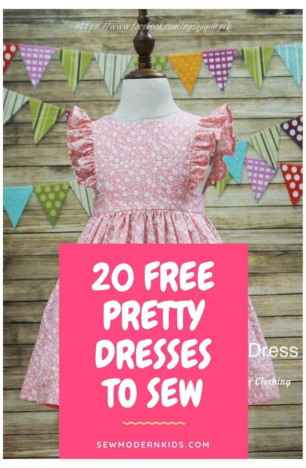 5+ free girls dress sewing patterns #baby #girl #clothes