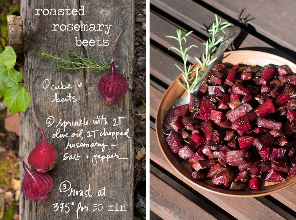 Rosemary Roasted Beets! So simple and delicious- a winter classic. For more photos and the full recipe, check out my post on the Better Homes and Gardens website.  Recipe by BHG, Photos and artwork by Erin Gleeson for The Forest Feast.