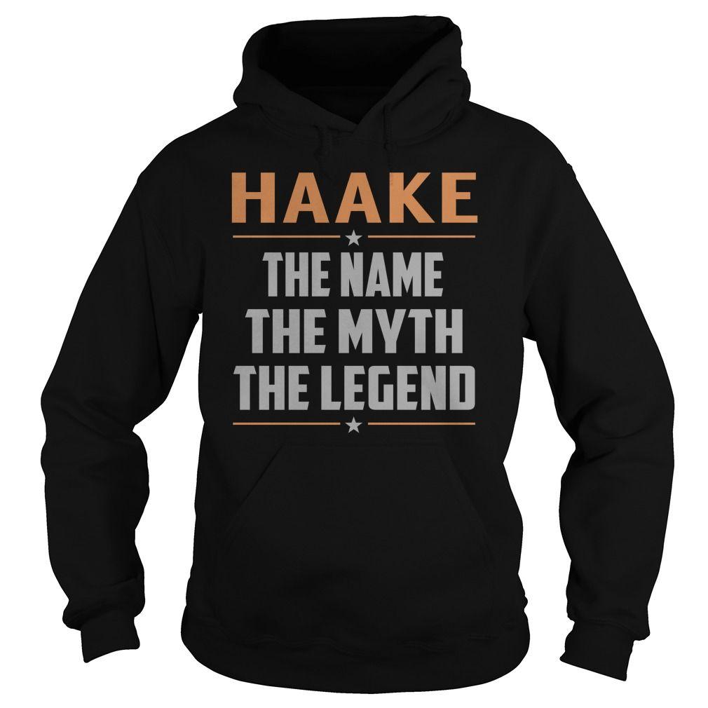 HAAKE The Myth, Legend - Last Name, Surname T-Shirt