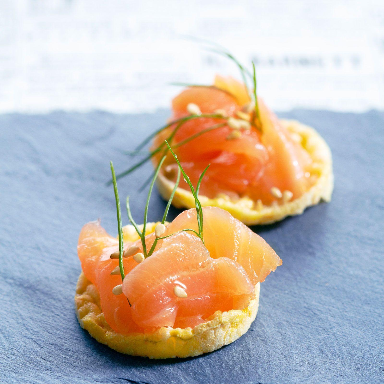 Mini tartelettes au saumon, facile