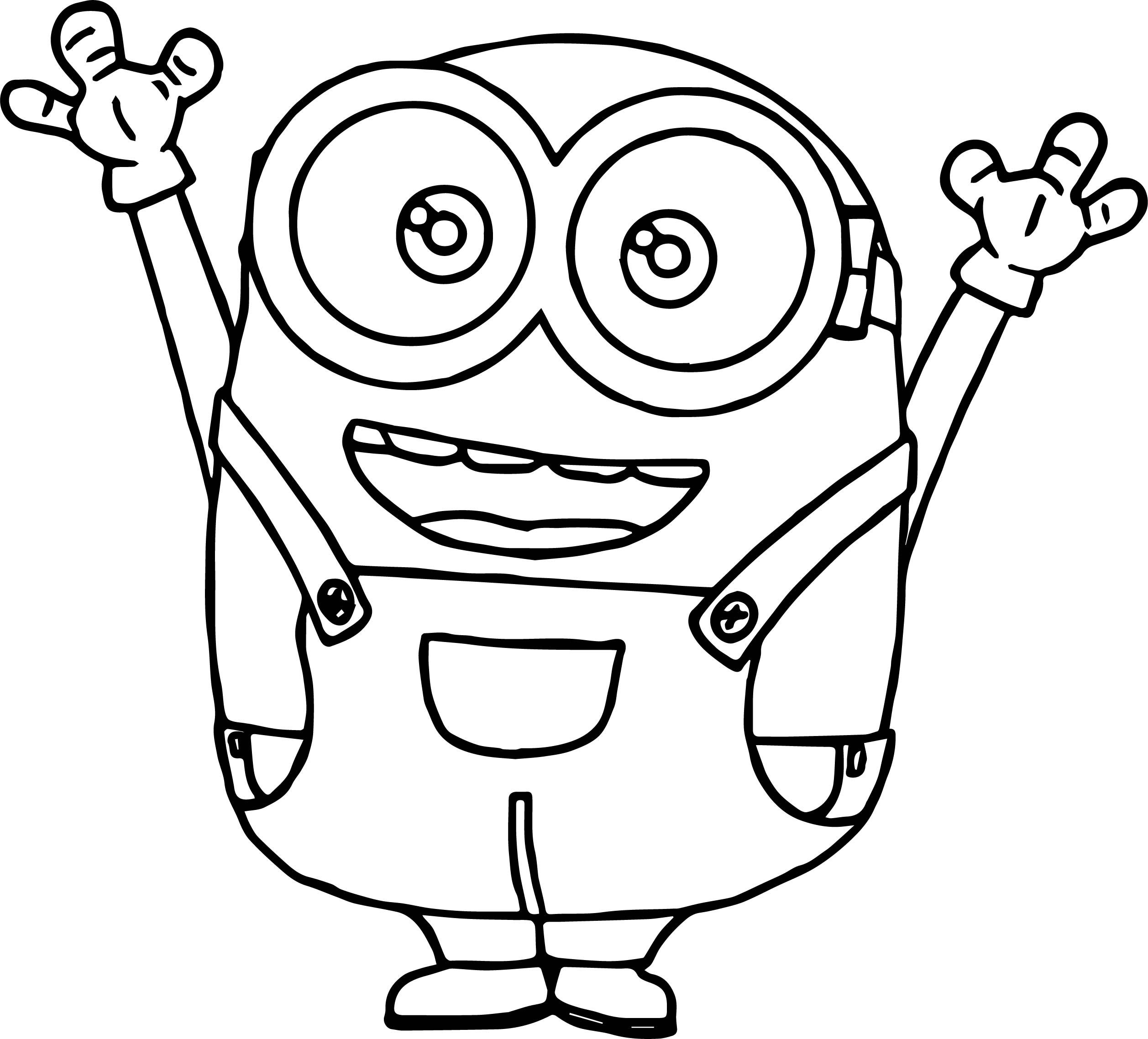 Nice Bob The Minion Tutorial Coloring Page Minion Coloring Pages Minions Coloring Pages Coloring Pages