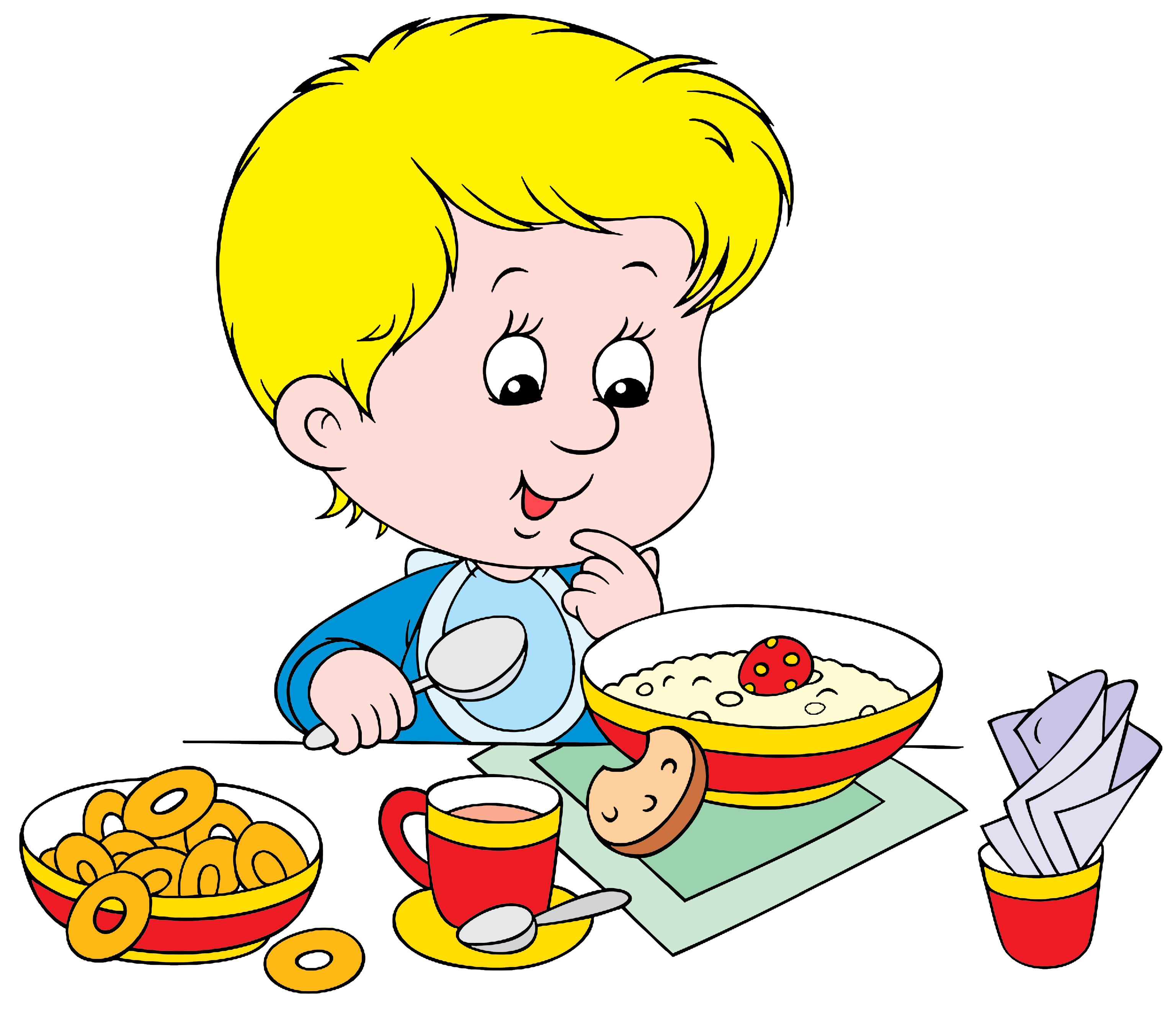 boy eating breakfast clipart - Google Търсене | Kids ...