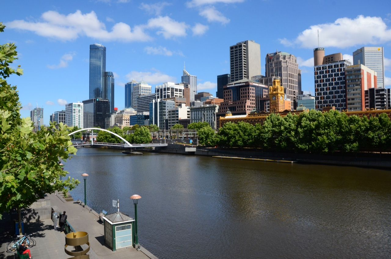 View of Melbourne from the south bank of the Yarra River #Australia #Cruise