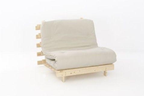 Cream Single Futon Sofa Bed
