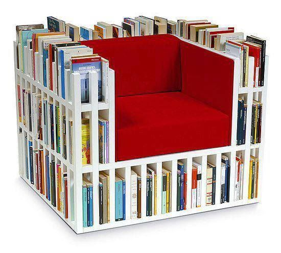 A Book Chair Saves On Clutter And Looks Adorable And Wouldnt - Bookchair combined with bookshelf