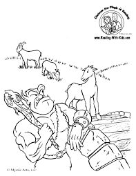 Image result for the three billy goat gruff free printable