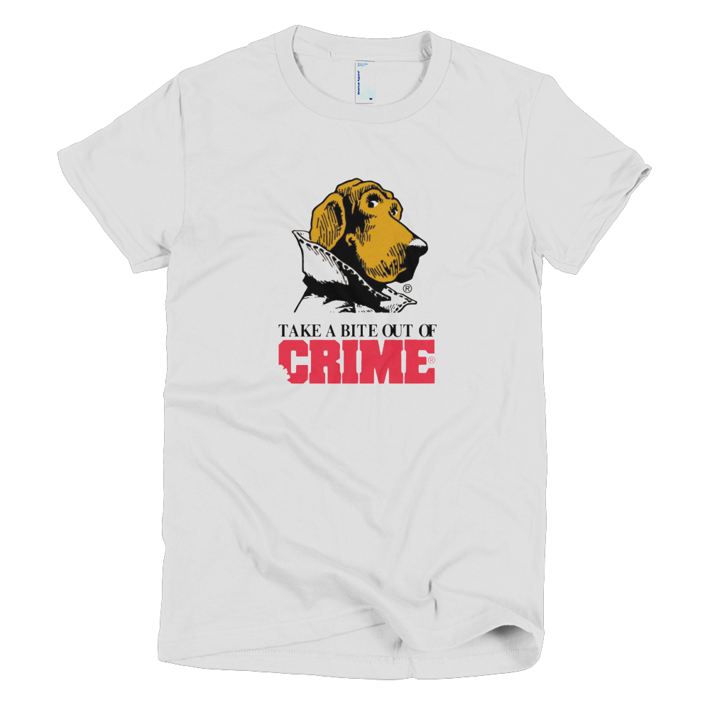 Scruff McGruff Take A Bite Out Of Crime Womens TShirt T