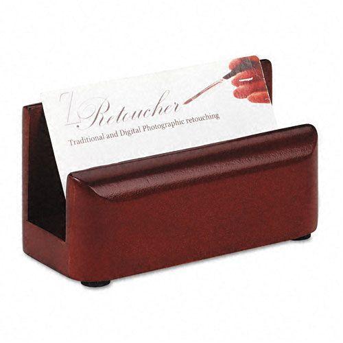 Rolodex Wood Tones Business Card Holder