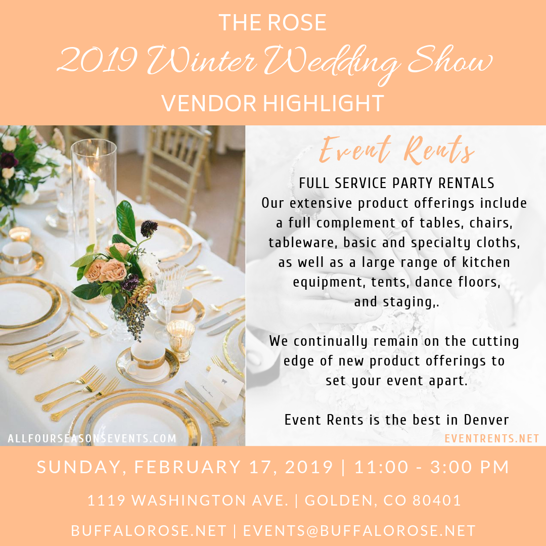 The Buffalo Rose Has Partnered With Event Rents Colorado