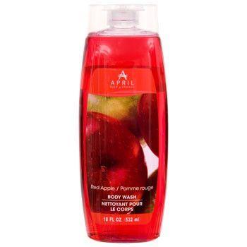 April Bath Shower Red Apple Scented Body Wash 18 Oz