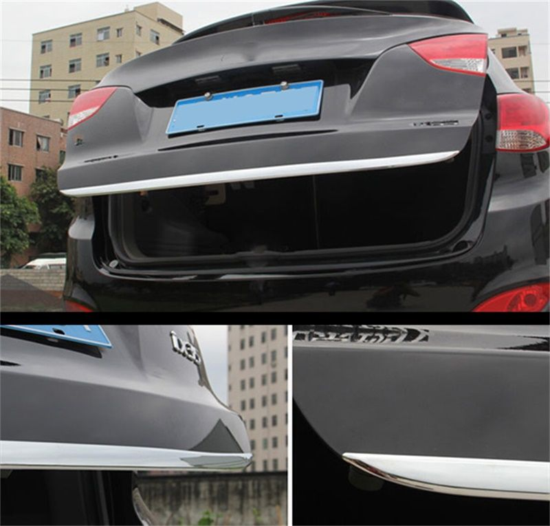 ==> [Free Shipping] Buy Best FOR 2010-2012 2013 2014 2015 HYUNDAI TUCSON IX35 CHROME REAR TRUNK BOOT TAILGATE DOOR COVER TRIM MOLDING Car-Styling Accessories Online with LOWEST Price | 32740696343