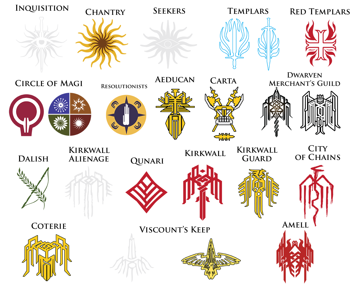 Dragon age symbols and meanings google search bioware had some spare time on my hands to vectorize some various crests and symbols found throughout the dragon age series i figured they might be a handy buycottarizona Gallery
