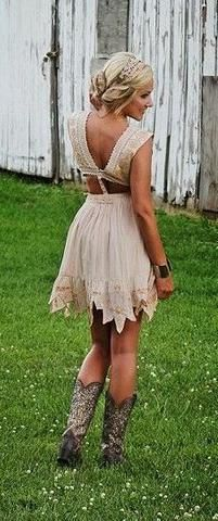 What To Wear To A Country Wedding Beige Mini Dresses Country Dresses Country Outfits