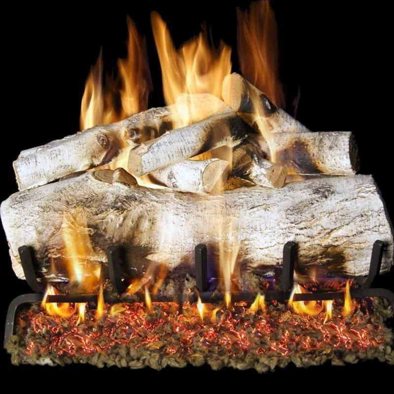 Peterson Real Fyre 24 Inch White Mountain Birch Gas Log Set With