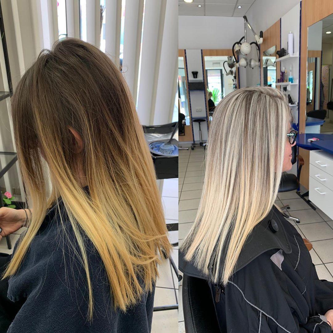 Un Avant Apres Coupe Couleur Meche Patine Et Encore Une Cliente Ravie Loreal Dia Dialight Woman Women Ne Patine Cheveux Coiffure Hair Coiffure