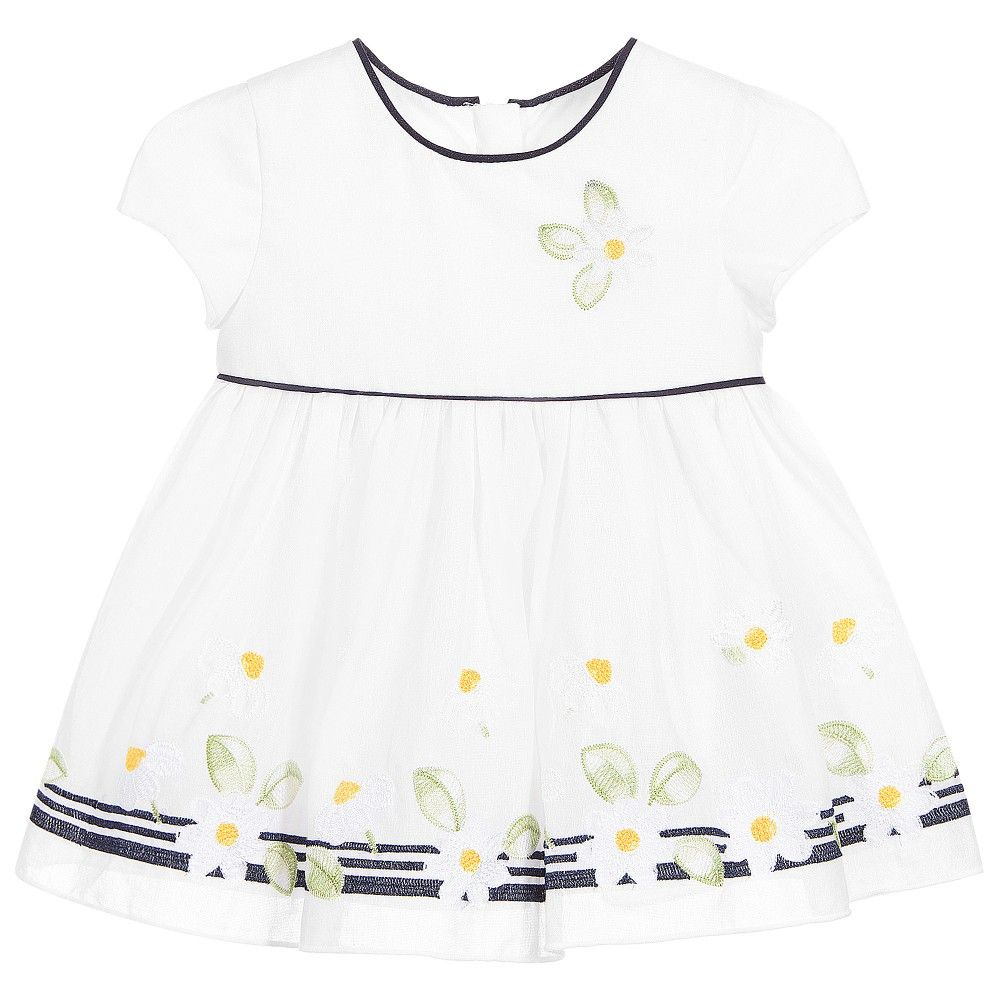 d5a3188a9264 Baby girls short-sleeved white dress by Mayoral Chic