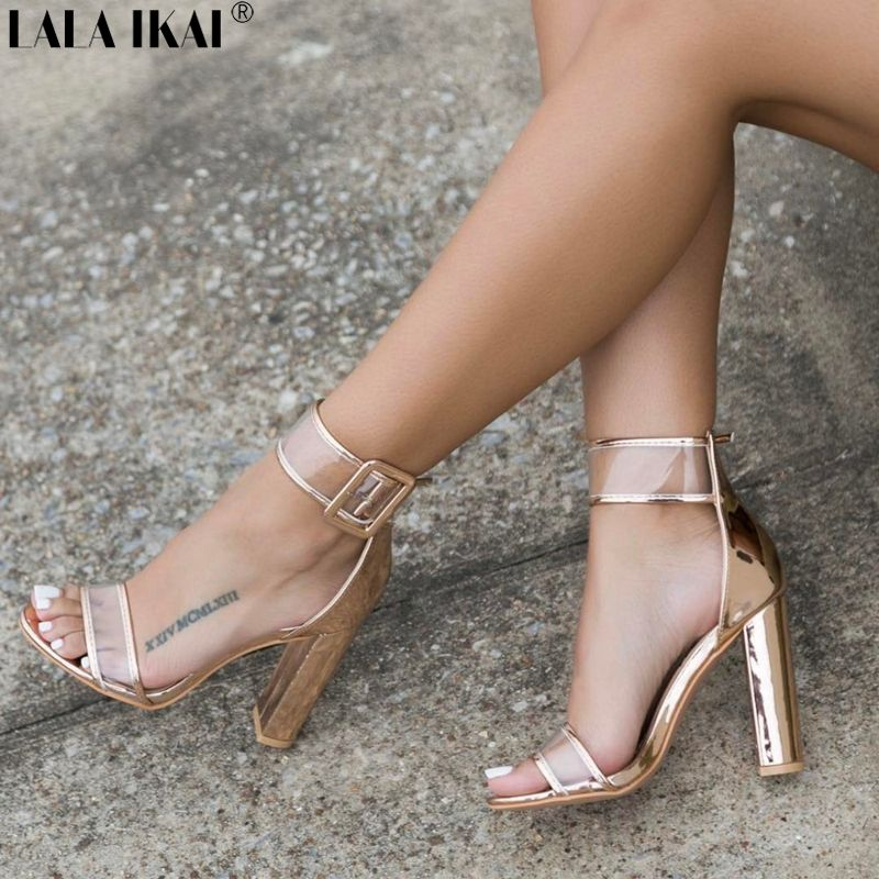 Midas LALA IKAI Sexy High Heels Women Sandals Transparent Women's Sandals  Summer 2017 Clear Ladies Shoes Plus Online Shopping| Midastar.com