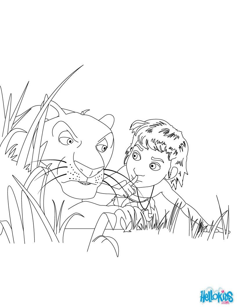 Disney jungle book coloring pages - Discover This Amazing Coloring Page Of The Jungle Book Movie Here Mowgli And Bagheera