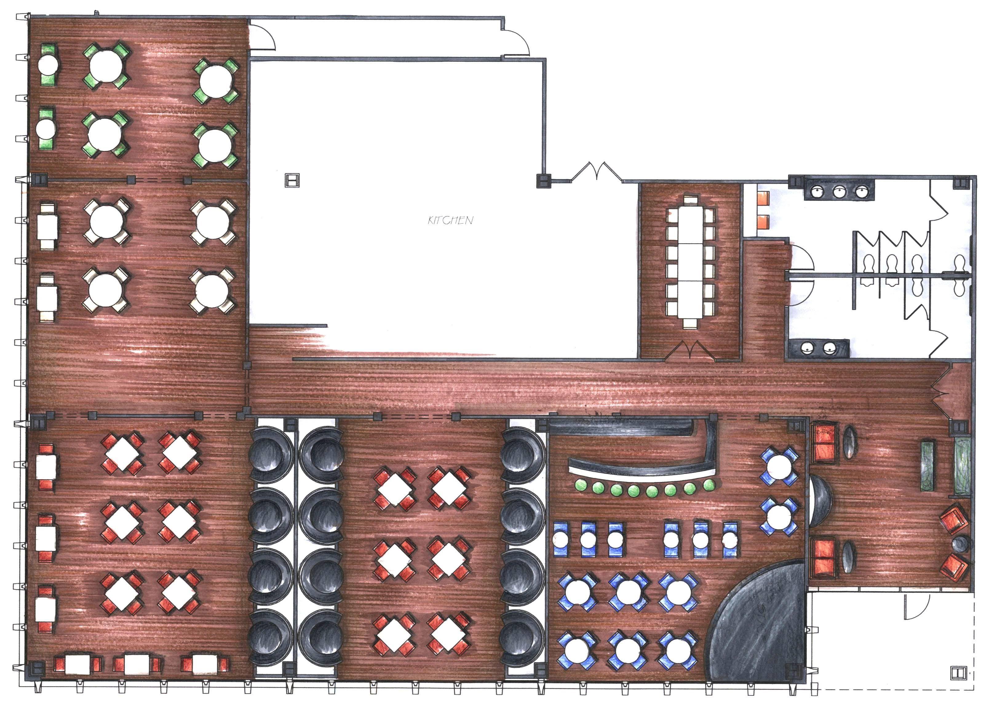 Design Your Own Restaurant Floor Plan: Open Kitchen Restaurant Layout