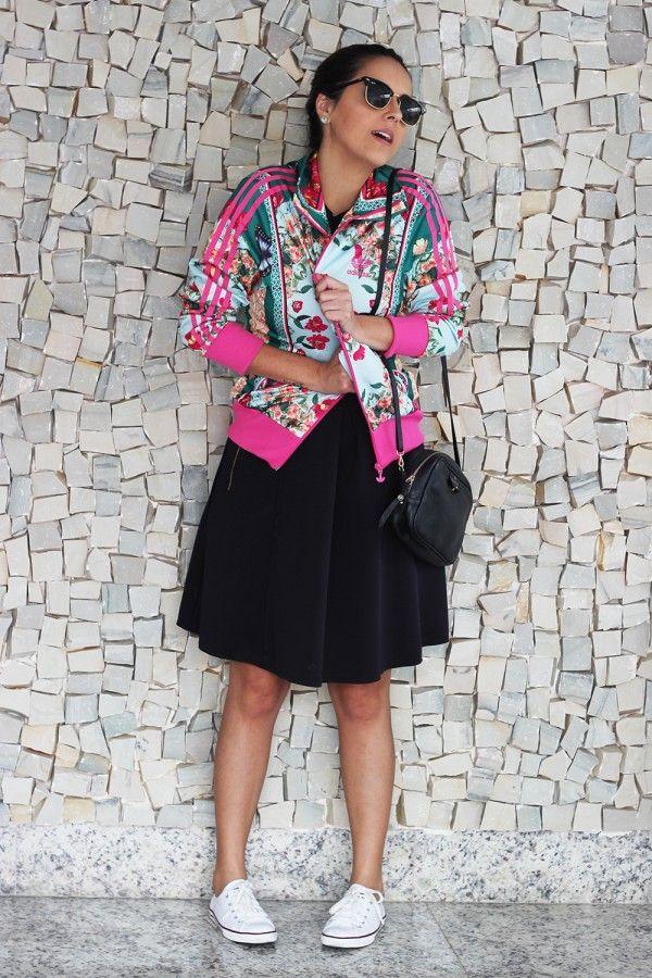 jaqueta adidas firebird rosa