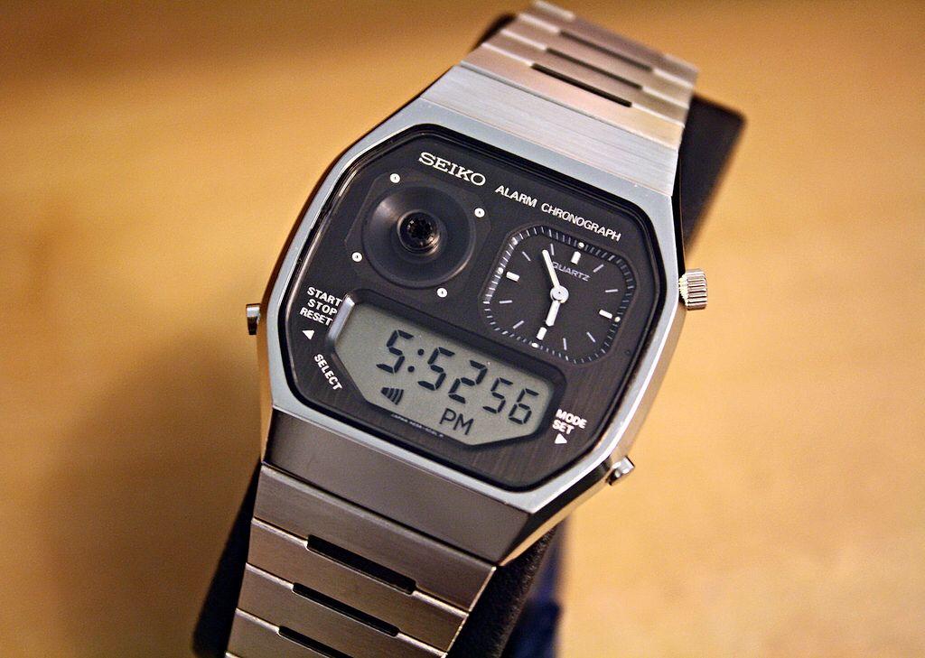 Seiko Quartz H239 502a Ana Digi Alarm Chronograph Gentlemen S Watch Seiko Retro Watches Vintage Watches