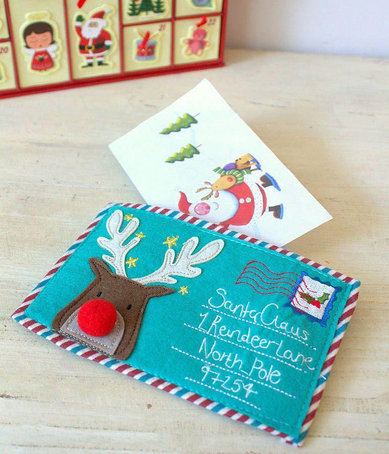 letter to santa claus felt enveloppe by little ella james