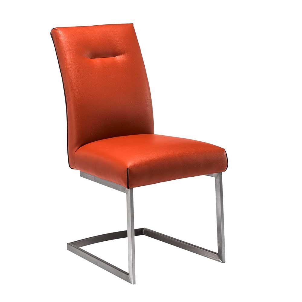Freischwinger in Orange Edelstahl (2er Set) Jetzt bestellen unter ...